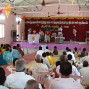 Congregation at a revival meeting